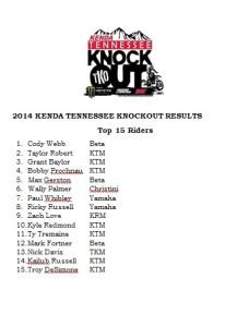TKO RESULTS 2014 TOP 15