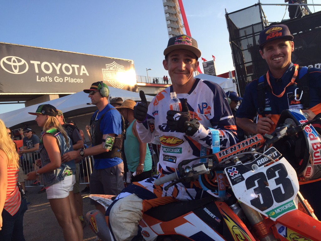 Taylor Robert 2015 X Games post race