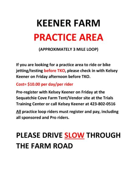 thumbnail of 2018 TKO rider practice area at Keener Farm