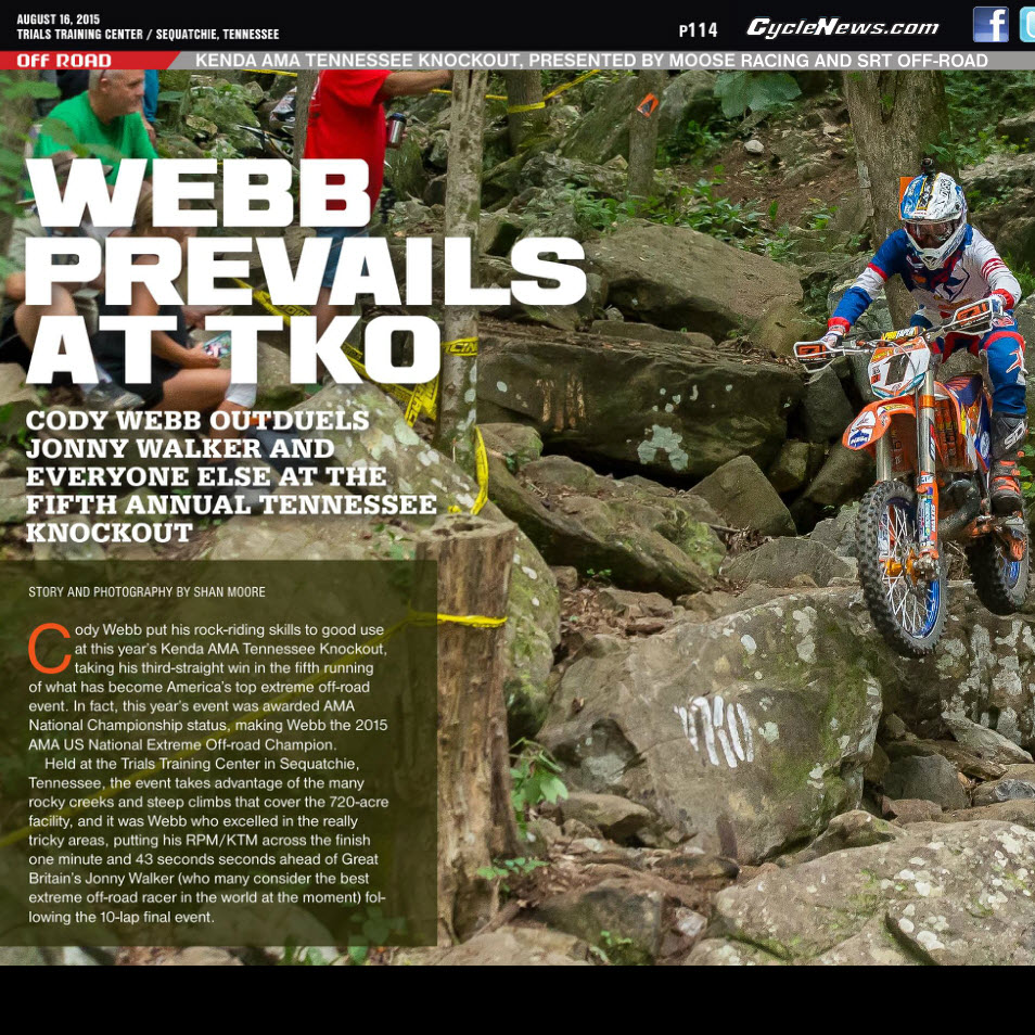2015 TKO article in Cycle News