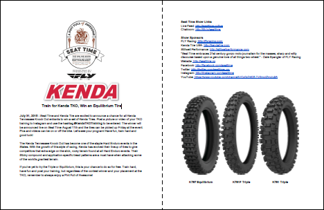 Kenda TKO Training Competition Seat Time Contest