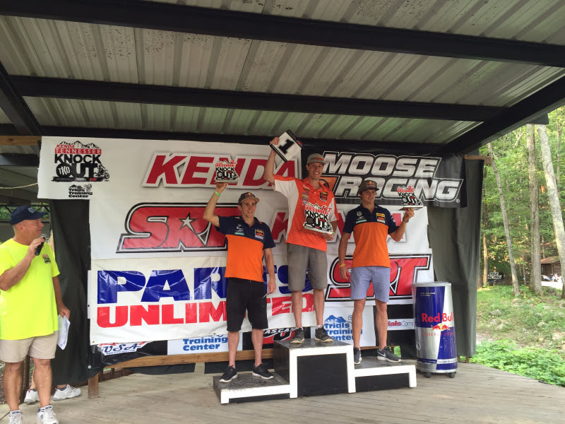 TKO 2015 Podium - 1st: Cody Webb; 2nd: Jonny Walker; 3rd Taylor Robert