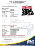 2016 TKO schedule
